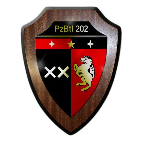 Wappenschild - PzBtl 202 Panzerbataillon 202 Militär Wappen Emblem #13620