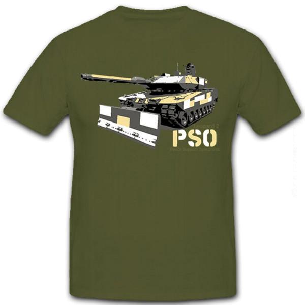 Leopard Leo PSO Bundeswehr Bw 2A7+Panzer Panzerkampfwagen - T Shirt #8453