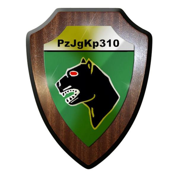 Wappenschild Panzerjägerkompanie PzJgKp 310 schwarzer Bw Militär #8356