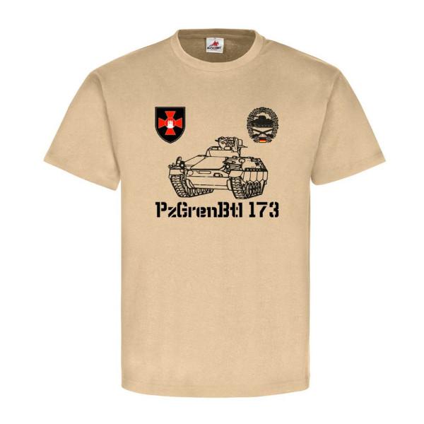 1 Panzergrenadierbataillon 173 mit Schützenpanzer Bundeswehr - T Shirt #6612