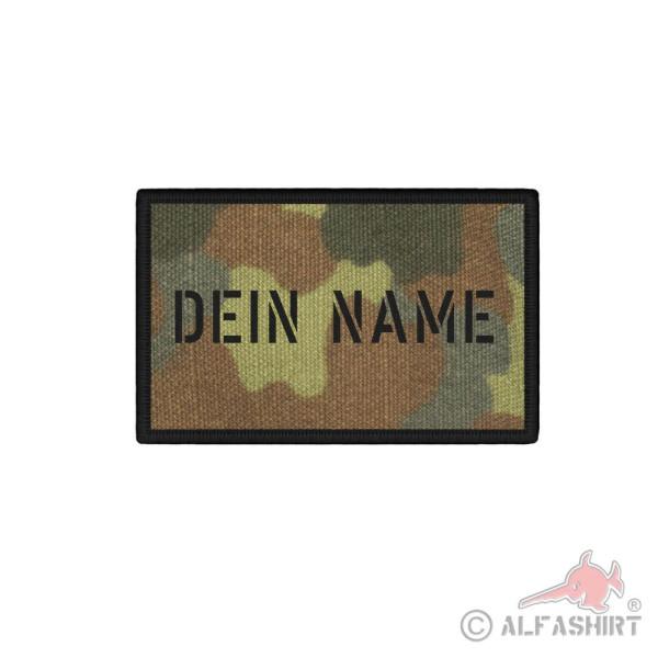 Patch Namen Personalisiert Name Wunschtext Flecktarn Bundeswehr Uniform#36598