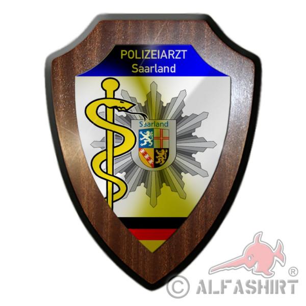 Wappenschild Polizeiarzt Saarland Polizei Doktor Arzt Beamter Wappen #36223