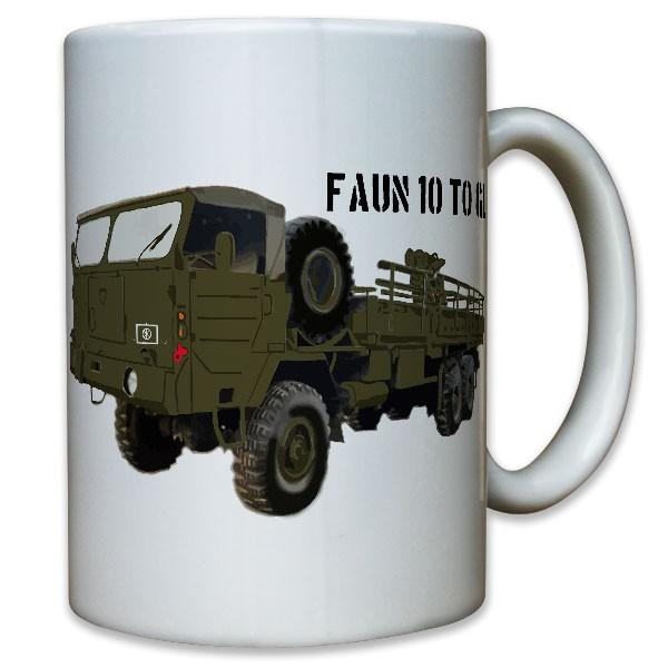 10TO GL Bundeswehr Faun LKW BW Bund Oldtimer Militärfahrzeug - Tasse #8916