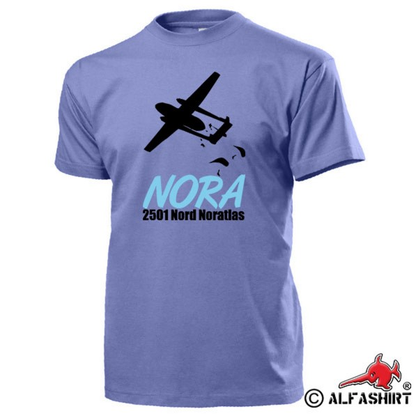 NORA North Noratlas Airplane Transport Airplane BW Air Force T Shirt # 15560