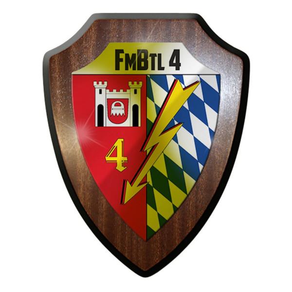 Wappenschild / Wandschild - Fmbtl 4 Bundeswehr Militär Deutschland #7386