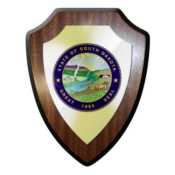 Wappenschild - The State of South Dakota Süd USA Segler Siedler Entdecker #11933
