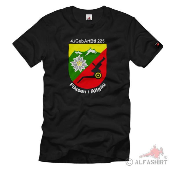 4Kp GebArtBtl 225 Wappen Gebirgsartillerie Bundeswehr BW Heer T-Shirt#36905