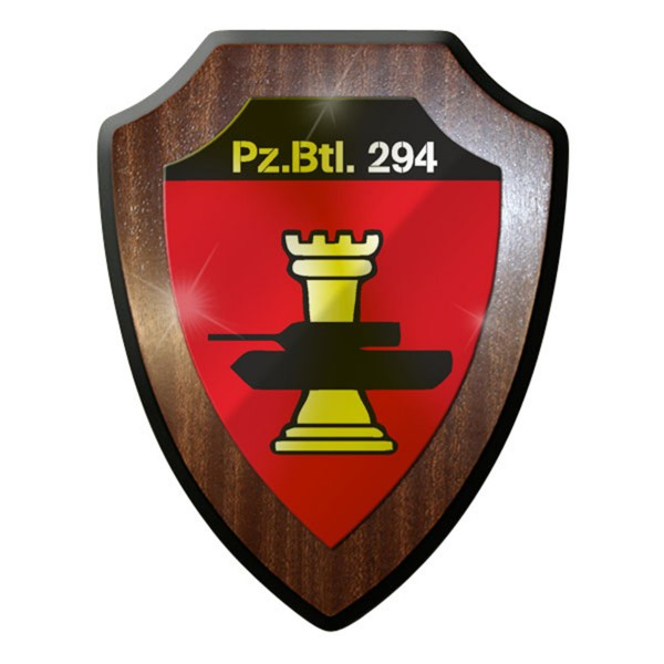 Heraldic shield / wall shield / coat of arms - PzBtl 294 Panzerbataillon Panzer # 8418