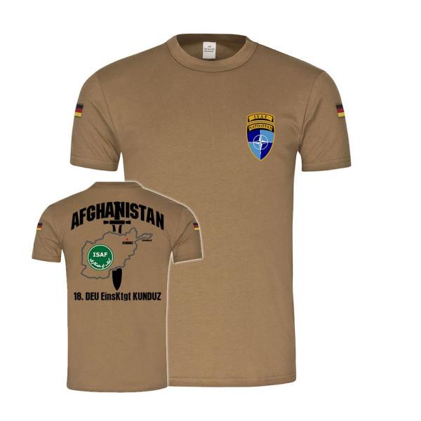 BW Tropen 18 EinsKtgt Kunduz Afghanistan Bundeswehr Einsatz Isaf T-Shirt#27885
