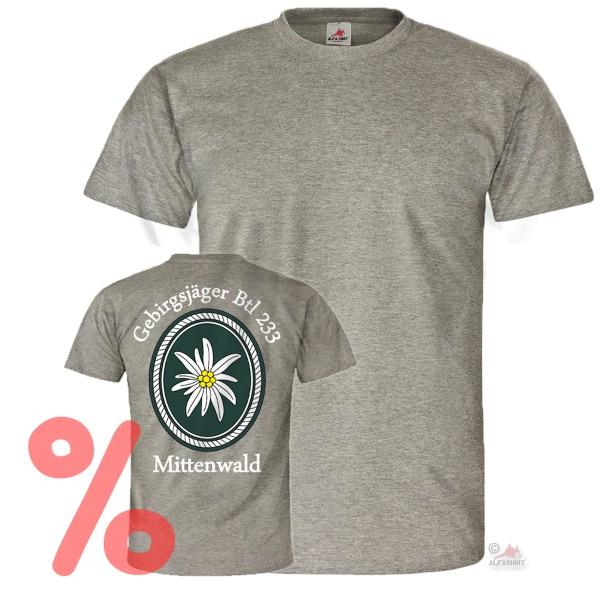 Gr. M - SALE Shirt Gebirgsbataillon 233 Mittenwald Einheit Truppe #R1064