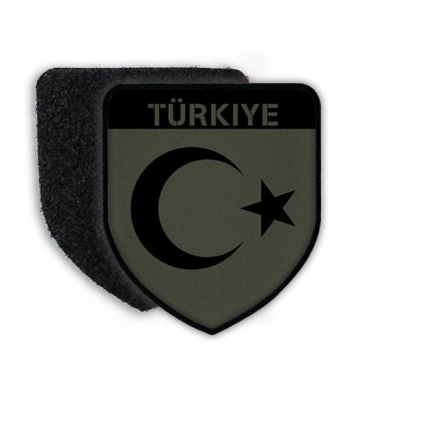 Patch Türkiye Türkei Fahne Halbmond Stern Uniform Armee Ankara Erdogan #21484