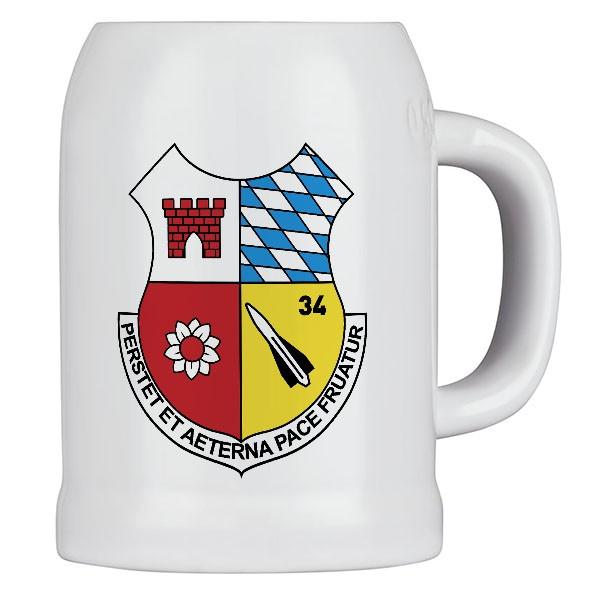 Krug / Bierkrug 0,5l - FlaRakBtl 34 Flugabwehrraketenbataillon Rottenburg #14737