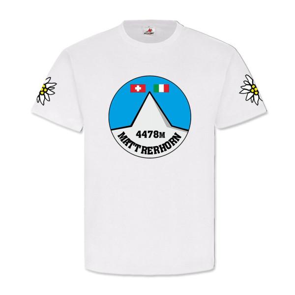 Schweiz Italien höchste Berge Alpen Matterhorn Monte Cervino - T-Shirt #11138