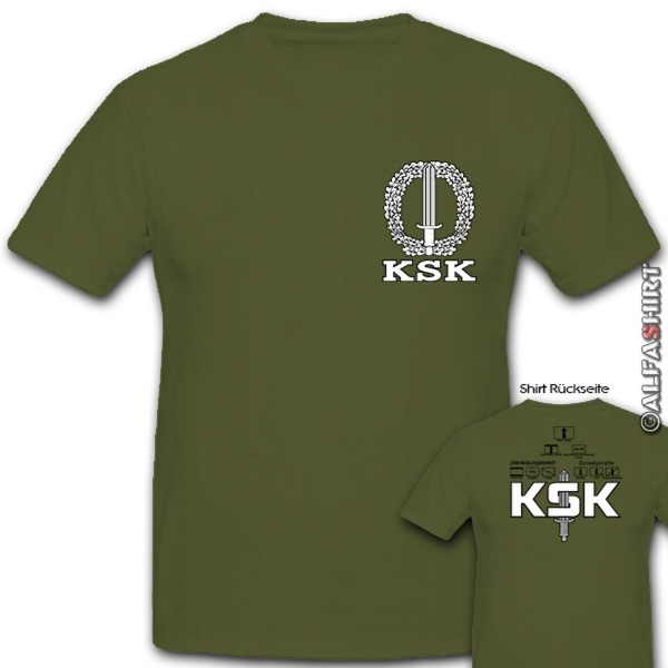 KSK with construction on the back Tactical signs military - T Shirt # 11170