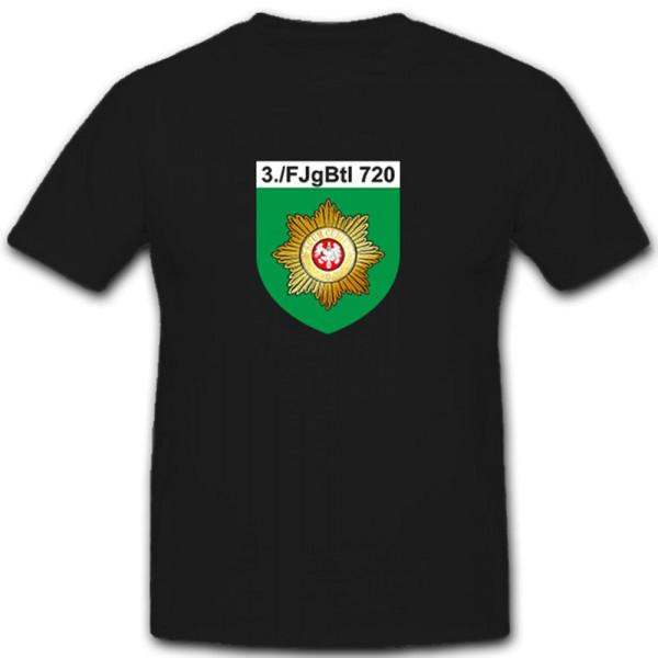 3tes FjgBtl 720 Bundeswehr Wappen Abzeichen Militär Deutschland - T Shirt #6704