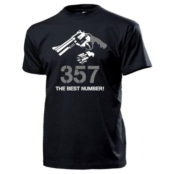 357 the best number Pistole Revolver Handfeuerwaffe - T Shirt #13132
