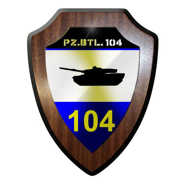 Wappenschild / Wandschild / Wappen - PzBtl 104 Panzerbataillon Panzer Bw 2 #8827