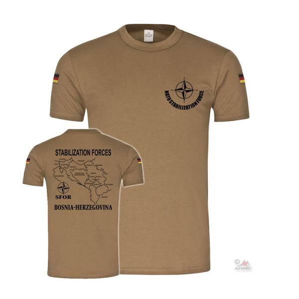 BW Tropen SFOR Bosnien Balkan Stanilization Forces NATO Bundeswehr T-Shirt#36588