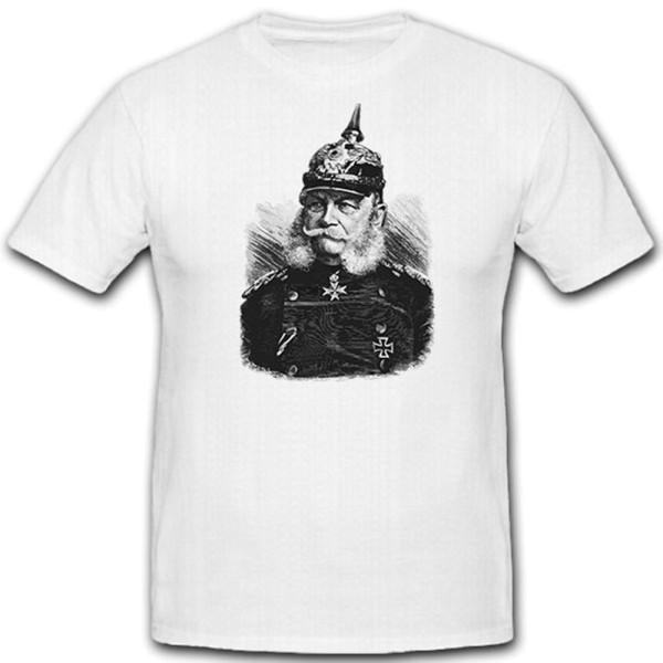 Kaiser Wilhelm der erste_ von Preussen Hohenzollern Portrait - T Shirt #12998