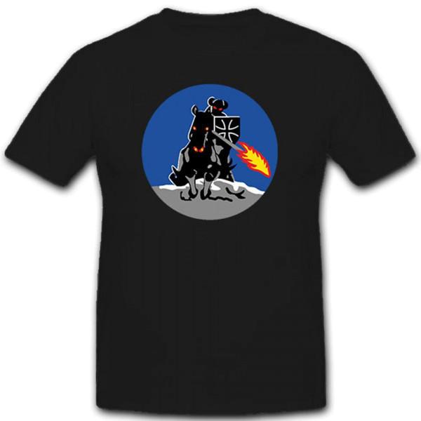Reiter mit Feuerleiste Feuer Bundeswehr Bw Abzeichen- T Shirt #9118