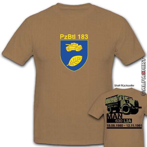 MAN 630 L2A PzBtl 183 Bundeswehr service 1980 1980 - Shirt # 11197