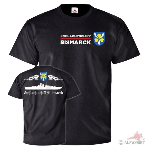 Schlachtschiff Bismarck Schiff Besatzung Crew Truppe - T Shirt #25751