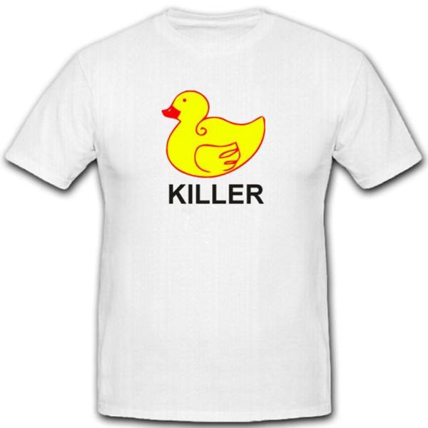 Killer Ente Entchen Karneval Quietscheente Badewanne Aggressionen T Shirt #2068