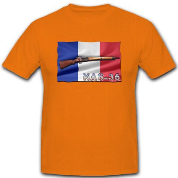 MAS-36 Gewehr Frankreich Militär Schützenwaffe Waffe - T Shirt #10434