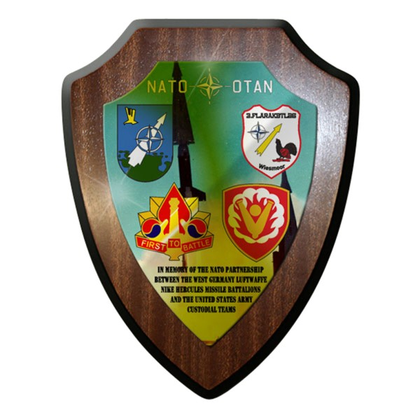 Wappenschild / Wandschild -Nato Partnership Missile Battalions Flarak #7677