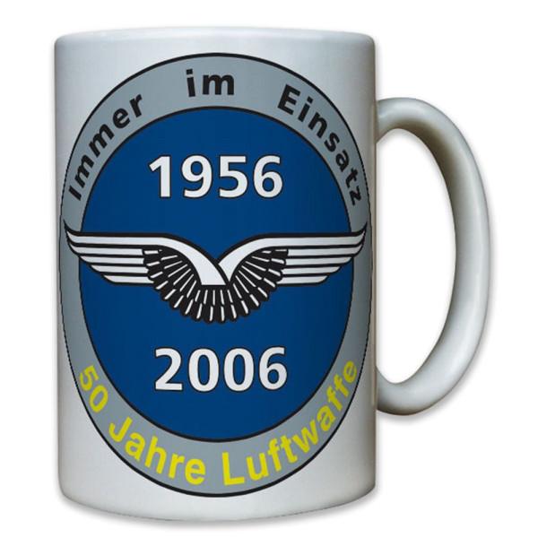 50 Jahre Luftwaffe Bundeswehr Flieger Fliegerhorst Schwingen - Tasse #8048