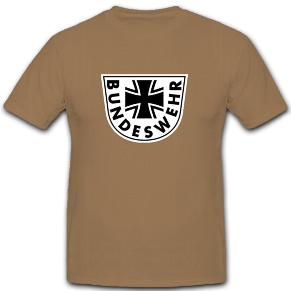 Bundeswehr Logo - Germany Coat of Arms Badge Emblem Insignia - T Shirt # 10909