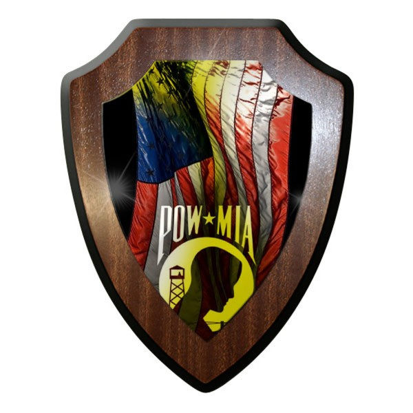 Wappenschild / Wandschild / - POW MIA Amerika Gefangene Prisoners of War #8960