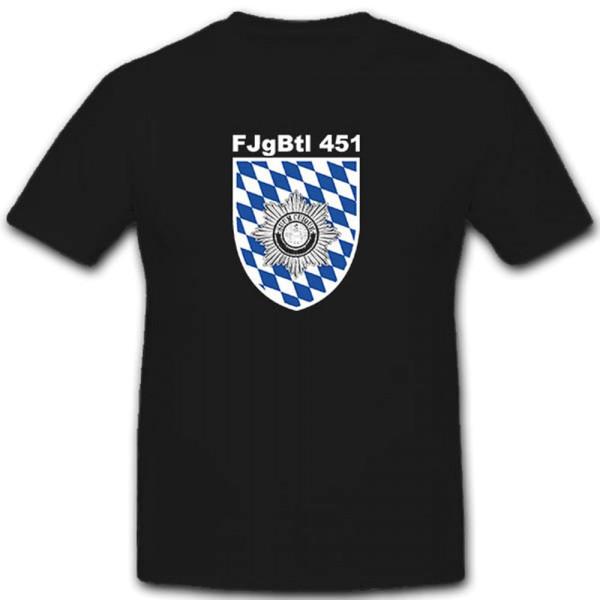 Fjgbtl 451 Bundeswehr Deutschland Militär Wappen Abzeichen 451 - T Shirt #7444