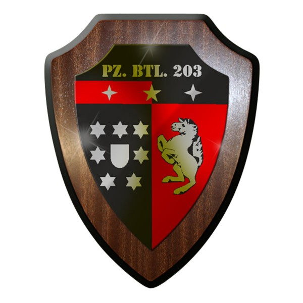 Wappenschild / Wandschild / Wappen - PzBtl 203 Panzerbataillon Panzer Bw #7065