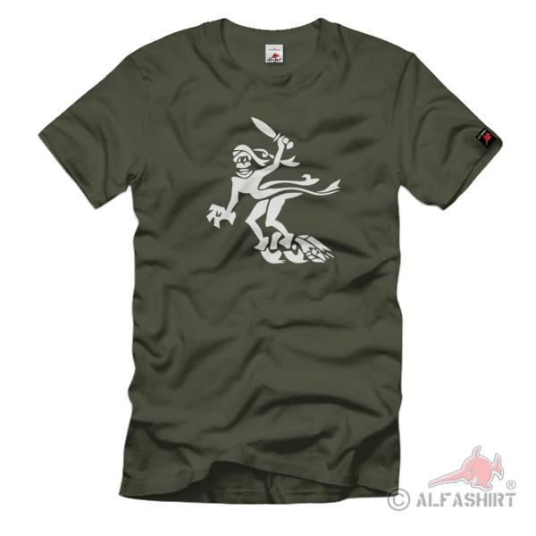 Gespensterdivision Panzer 3 III Divisionszeichen Gespenst Abzeichen T-Shirt#11