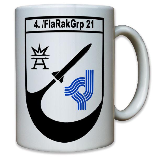 4. Kompanie FlaRakGrp 21 Flugabwehrraketen Gruppe 21 Raketen Bund - Tasse #11789