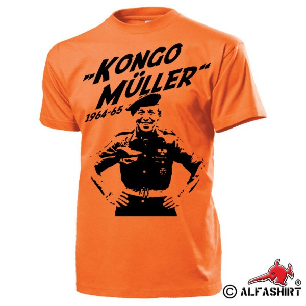 Kongo Müller Söldner Siegfried Müller 1960er Jahre Afrika Simba T-Shirt #15439