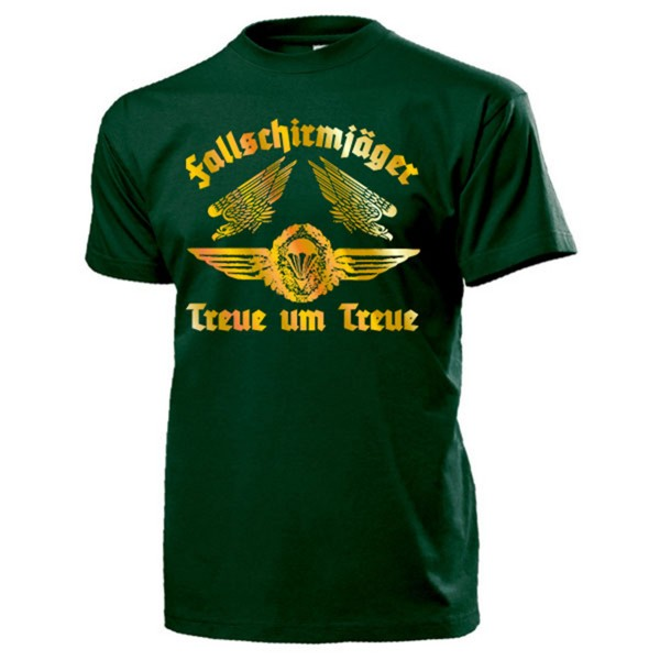 Fallschirmjäger Treue um treue Bundeswehr Springer Gold - T Shirt #13199