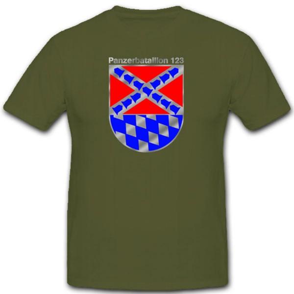 PzBtl 123 Panzerbataillon Panzer Bataillon Bundeswehr BW Wappen T Shirt #1817