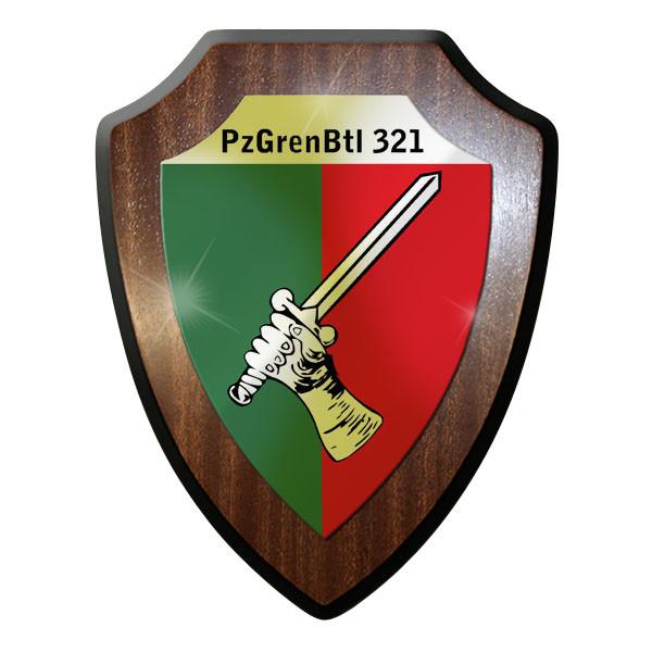 Wappenschild/ Wandschild- PzGrenBtl 321 PanzerGrenadierBataillon Bund Bw #9242