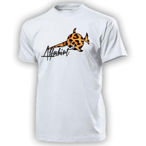 Alfashirt Leopardenfisch Sägefisch Schwertfisch Leo Leopard - T Shirt #13088