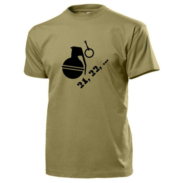 Hand Grenades 21, 22, Ring Splint Temple Fun Humor Military Soldier - T Shirt # 17385