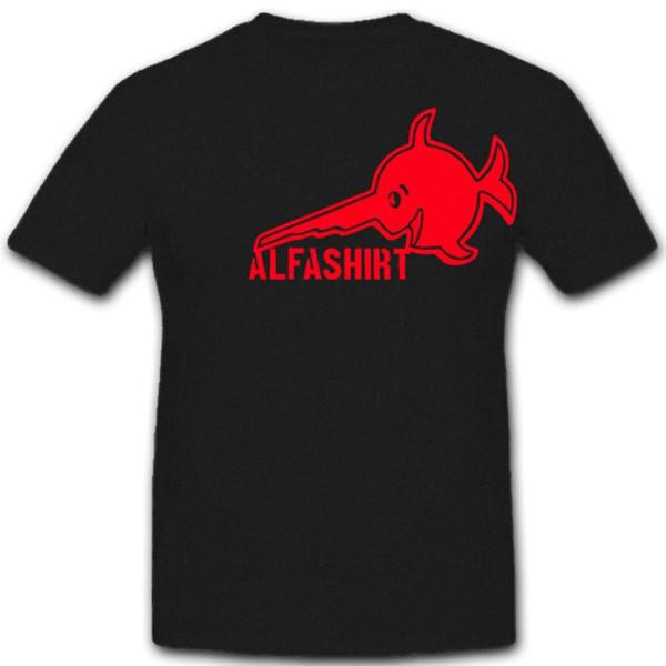 ALFASHIRT Logo Atlantik Sägefisch rot U 96 - T Shirt #4570