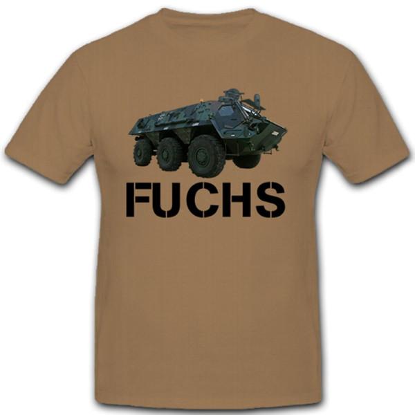 Fuchs Bundeswehr Fahrzeug Spühpanzer Militär - T Shirt #9877