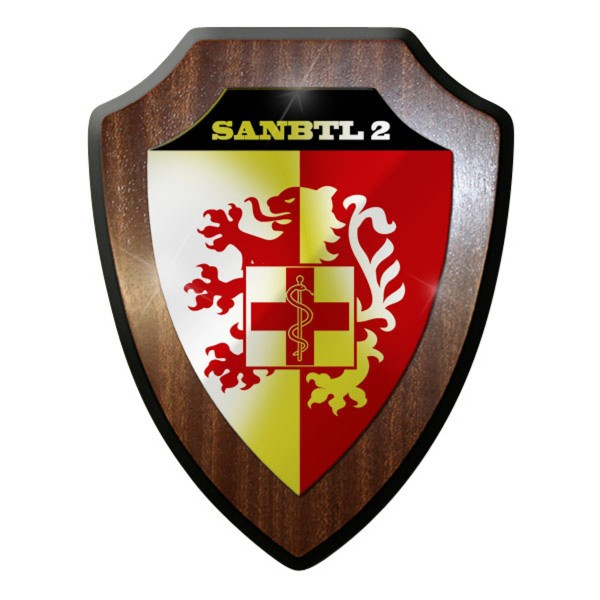 Wappenschild / Wandschild / Wappen - SanBtl 2 Sanitäts Bataillon Sanitäter#10001