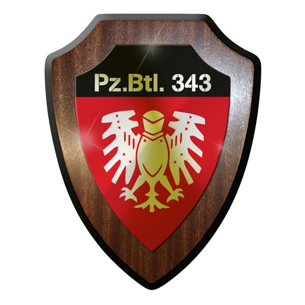 Wappenschild / Wandschild / Wappen - Panzerbataillon 343 Panzer Emblem #8804