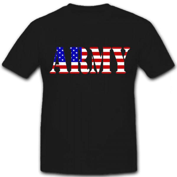 Army USA Flagge Amerika Militär US Soldat Militaria Uniform- T Shirt #12516