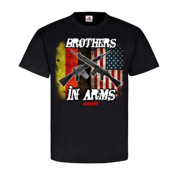 Brothers in ARMS Amerika Fahne G3 Gewehr AR15 Waffenbrüder T-Shirt #20779