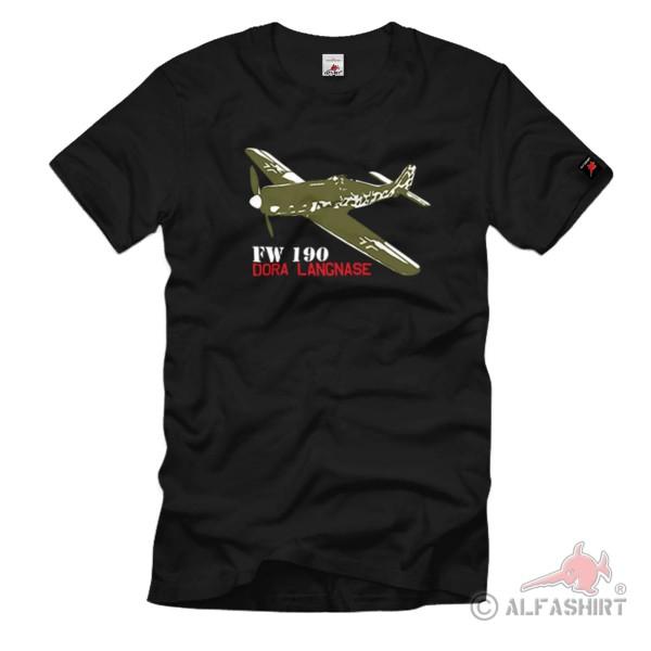FW 190 Dora Würger fighter aircraft long nose Luftwaffe WH T Shirt # 1104