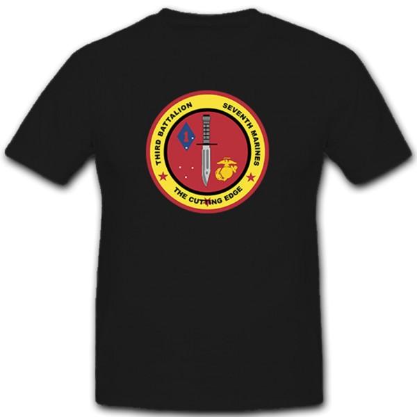 USMC_3rd_Battalion - Militär Wappen Abzeichen Kampfmesser - T Shirt #11165